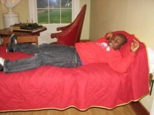 dylan on TJs bed!