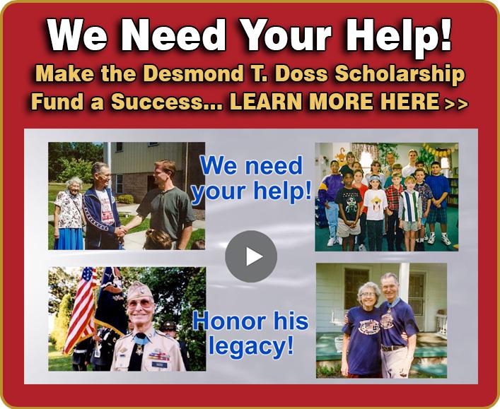 desmond doss scholarship fund, desmond t. doss scholarship fund, hacksaw ridge, desmond doss