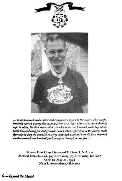 war hero desmond doss beyond the medal