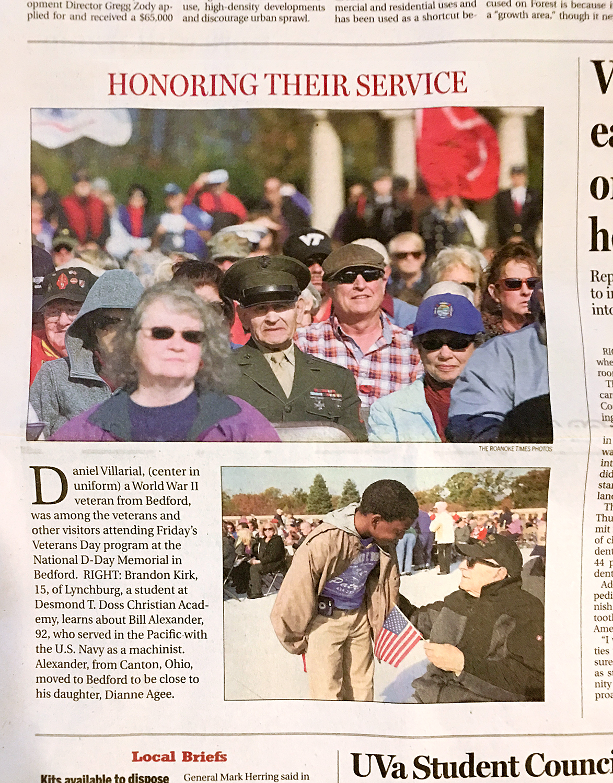 honoring veterans day d-day memorial